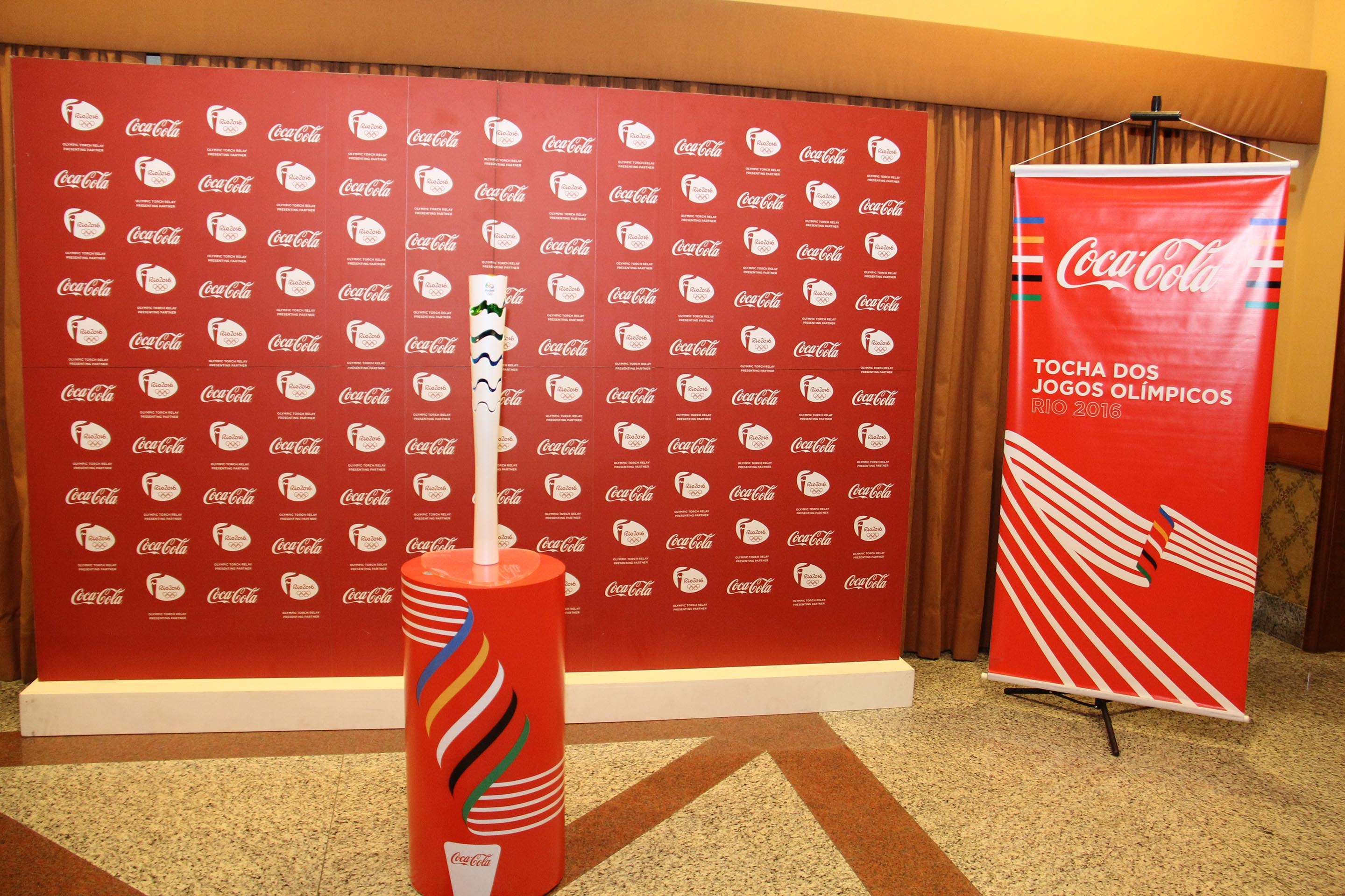 Coca-Cola presenteou a 28ª Super Rio Expofood com o símbolo do maior evento esportivo do mundo