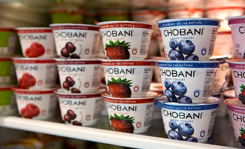 Chobani, the Greek yogurt maker headquartered in Chenango County, N.Y., has moved into the No. 2 spot in the overall U.S. yogurt market.